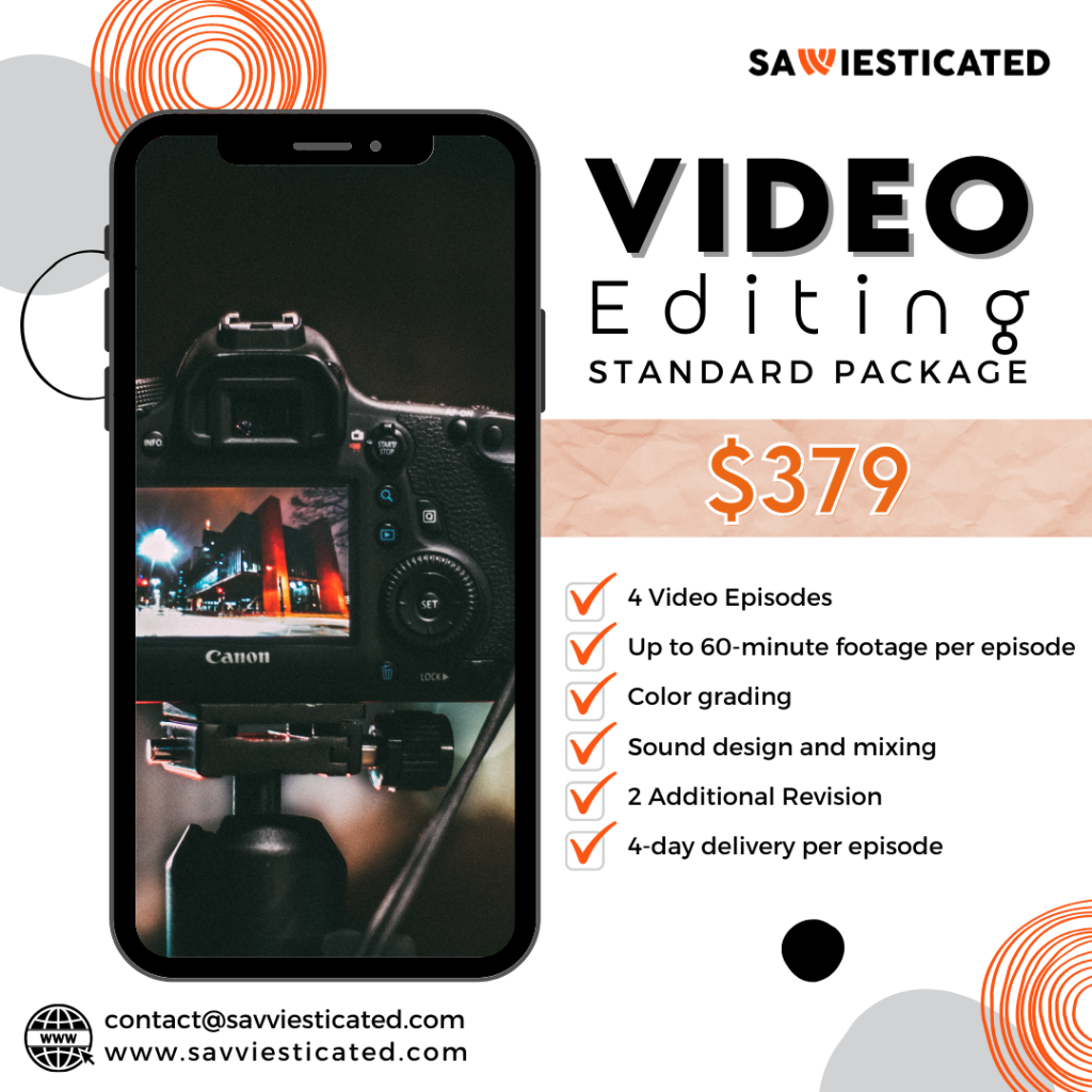 Video Editing Package - Savviesticated